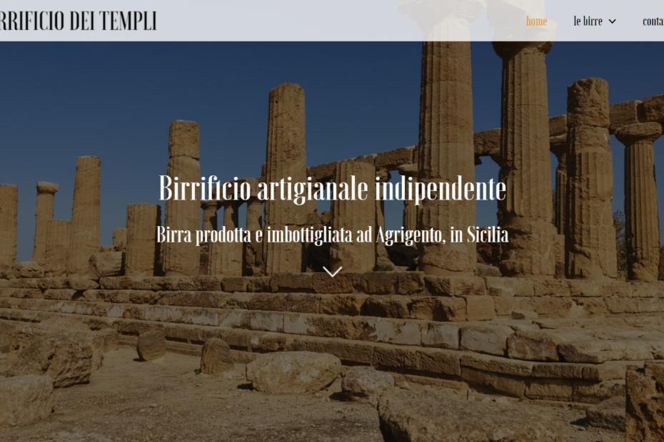 Screenshot sito web Birrificio dei Templi